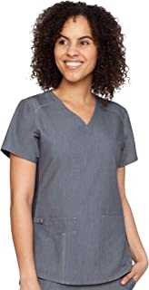 Med Couture Touch Women's V-Neck Shirttail Scrub Top