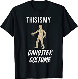 This Is My Gangster Costume Funny Halloween T-Shirt