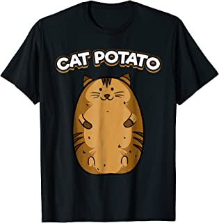 Cat Potato T-Shirt Funny Cute Fat Potato Feline Animal Tee