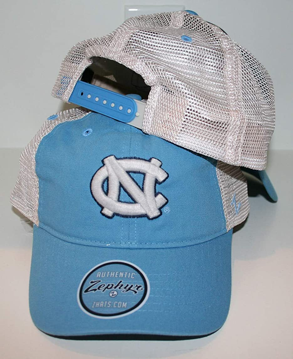 Zephyr University of North Carolina UNC Tar Heels Blue DH University Mesh Trucker Adult Mens/Boys Adjustable Baseball Hat/Cap