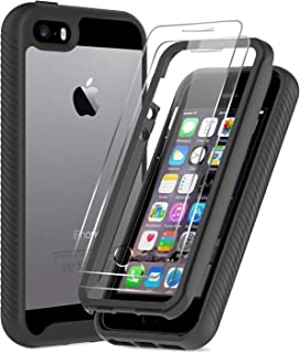 LeYi iPhone SE Case (2016), iPhone 5 Case, iPhone 5s Case with 2 Tempered Glass Screen Protector, Full-Body Shockproof Rug...