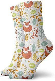 tyui7, Patrón popular escandinavo colorido plano Calcetines de compresión antideslizantes Calcetines deportivos de 30 cm acogedores para hombres, mujeres, niños