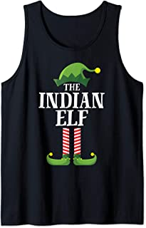 Indian Elf Matching Family Group Christmas Party Pajama Tank Top