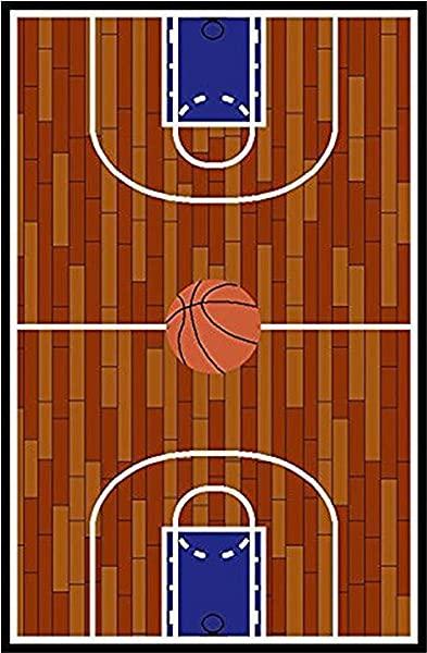 Furnish My Place Basketball Court Kids Rug