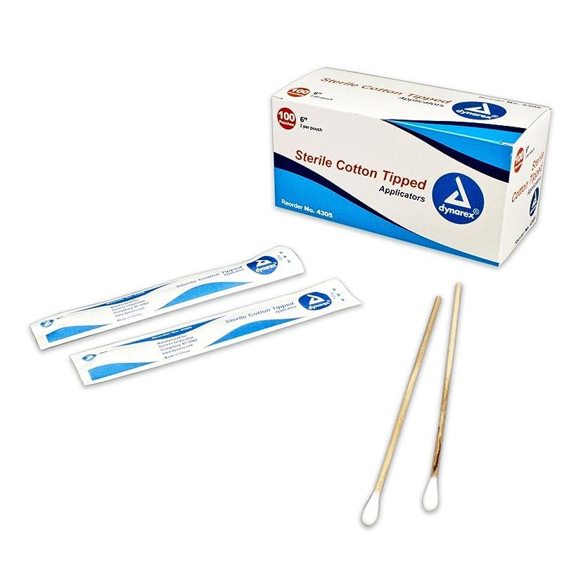 ZAMA Dynarex Cotton-Tipped / Wood / Sterile Applicators, 6in, #4305 BOX (2 Each/Pack, 100 Pack/Box) / 7 / 11.81
