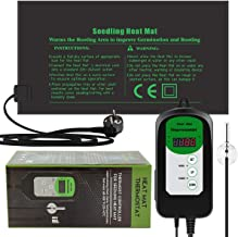 RIOGOO 24 * 52 cm zaailing Warmte Mat en Thermostaat Controller 46-100 ° F Digitale Thermostaat Controller IP68 Waterdicht...
