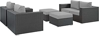 Amazon.com: modway eei-2388-gry-bei-set convocar 5 piezas ...
