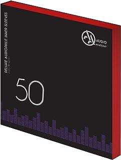 AUDIO ANATOMY 50 sztuk Deluxe płyty gramofonowe okładki wewnętrzne antystatyczne czerwone 80 g