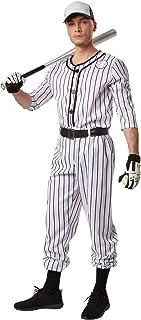dressforfun, dressforfun Disfraz para Hombre Béisbol | Parte Superior de Manga Larga a Rayas | Pantalones Largos a Rayas | Incl. cinturón y un par de Calcetines (S | No. 301809)