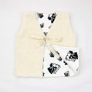 Boxer Dog Print Baby Girl Vest, Size 9-12 Month