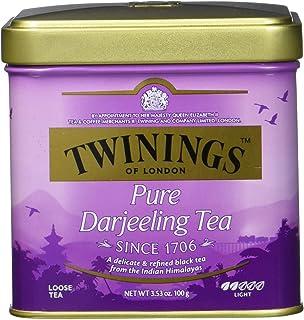 Twinings Pure Darjeeling loser Tee Dose 100g, Schwarztee, Der Schwarztee ist würzig, mit einem Hauch von Muskatgeschmack. Black Tea 6er Pack 6 x 100 g