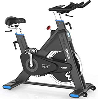 L Now Indoor Cycling Bike Indoor Exercise Bike Stationary- Belt Drive with 44LBS Stable Flywheel,Heart Rate and LCD Monitor Commercial Standard for Home Cardio (LD577)