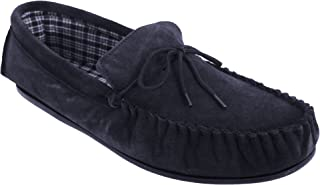 Mokkers Mens Bruce Real Suede Moccasin Slippers