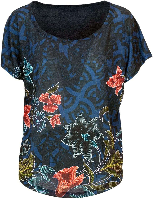 Desigual Women's 18WOTK25blueE bluee Cotton TShirt