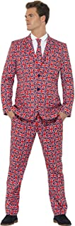 Smiffys Men's Union Suit, Jacket, Pants and Tie, Stand Out Suits, Serious Fun, Size