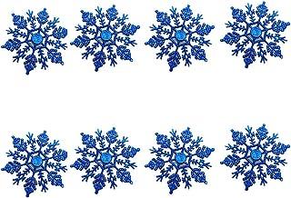 AAGOOD 12 PCS Creativo de acrílico del Copo de Nieve Adornos de Navidad Estilo Delicado del Etiqueta Decoraciones Colgantes del Azul Real