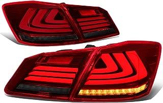 DNA Motoring TL-3D-HA14-RDSM Red/Smoked 3D LED Bar Tail Light[13-15 Honda Accord]