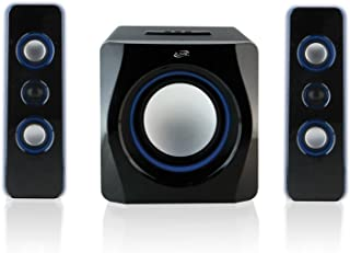 iLive iHB23B Wireless Bluetooth Speaker System 2.1 Channel W/Blue LED Light EFX Electronic Accessories