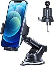 Miracase 2021 Military-Grade Universal Cell Phone Holder for Car,[Ultra-Stable& Strong Suction] Hands Free Dashboard Windshield Air Vent Car Phone Holder Mount Fit for All Mobile Phones
