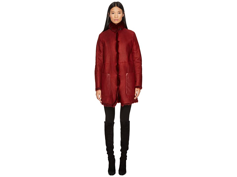 BELSTAFF Kentledge Shearling Toscana Reversible Jacket (Dark Red) Women