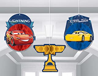 Cars 3 Honeycomb Decoration