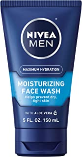 Nivea for Men Double Action Moisture Rich Face Wash, Vitamin Enriched - 5 Oz