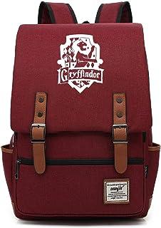 Mochila Gryffindor, Mochila de Ocio Harry P, Bolsa de Viaje de Moda de la Universidad de Hogwarts Grande Licor Rojo