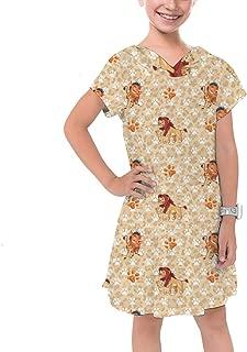 Rainbow Rules Hakuna Matata Lion King Disney Inspired Girls Cotton Hoodie Dress Drop Waist