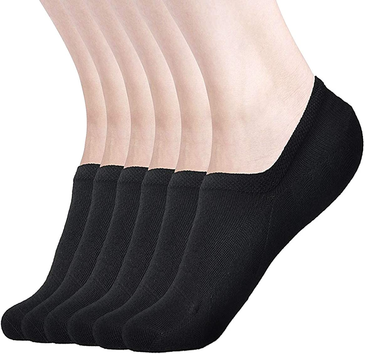 Womens No Show Socks Non Slip Flat Boat Line Low Cut Socks ( 3-6 Packs )