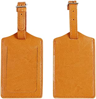 AshBro Inc. Leather Luggage Bag Tags Luggage Tags for Suitcases Travel ID Identification Labels Set for Bags & Baggage Tra...
