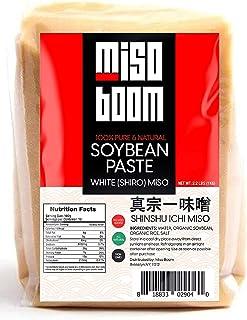 Miso Paste White (Shiro) Miso Soybean Paste, 2.2 lb, non-GMO, No MSG, Vegan - by Miso Boom