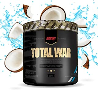Redcon1 Total War - Pre Workout, 30 Servings, Boost Energy, Increase Endurance and Focus, Beta-Alanine, Caffeine (Blue Coc...