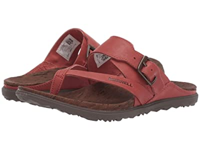 Merrell Around Town Luxe Buckle Thong (Redwood) Women
