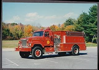 Berlin MA FD Farrar Pumper Engine #1 fire truck photo