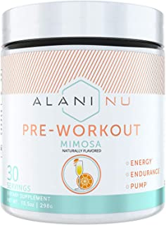 Alani Nu Pre-Workout Supplement Powder for Energy, Endurance, and Pump, Mimosa, 30 Servings
