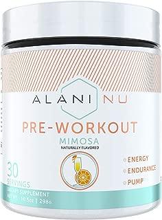 Alani Nu Pre Workout Powder w/Caffeine, L-Theanine & Beta Alanine, Mimosa, 30 Servings …