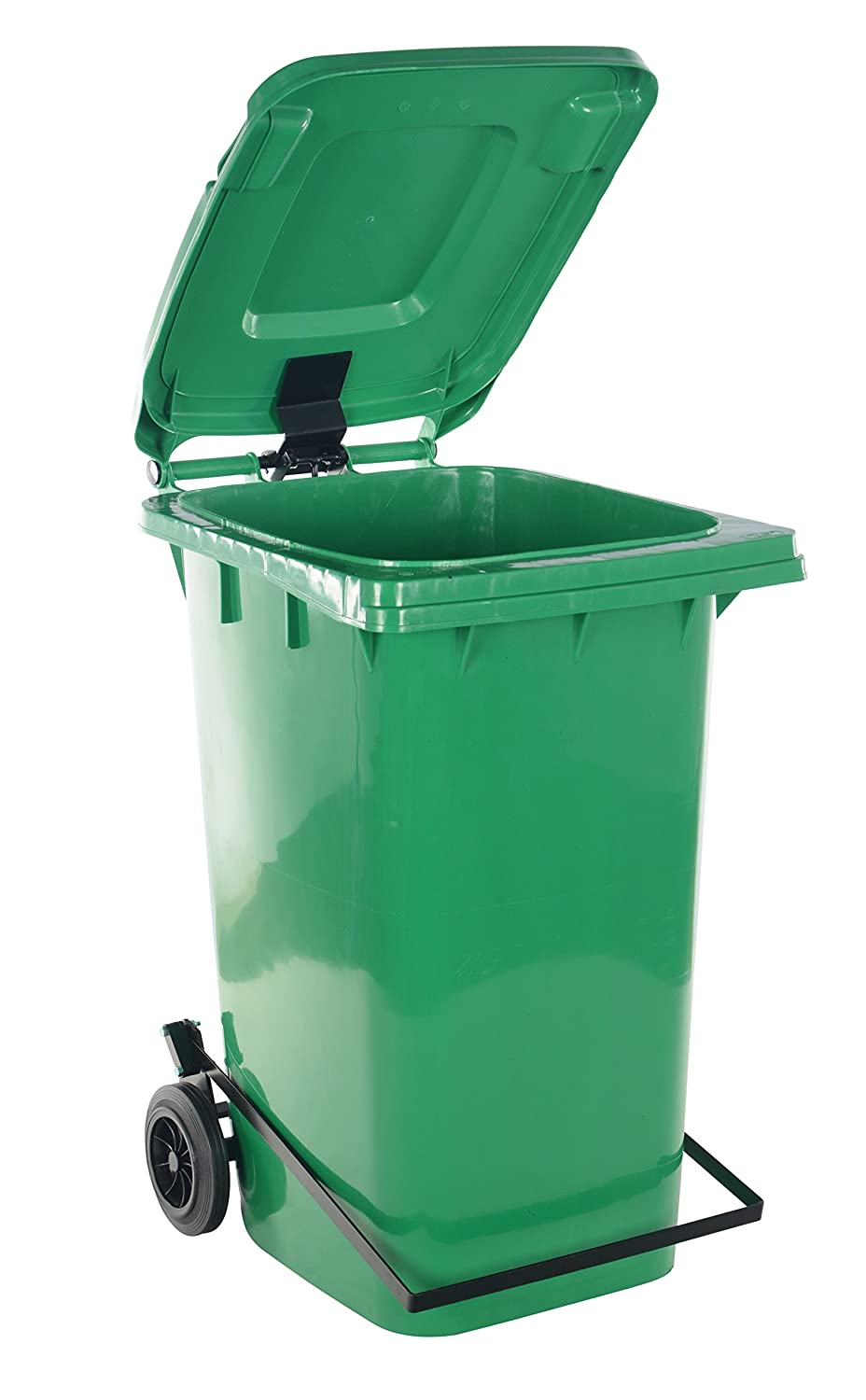 Vestil Save money TH-32-GRN-FL National products Trash Can with Foot Capacit lb. 32 Lid Lift