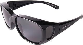 Rapid Eyewear - Negro SOBRE GAFAS DE SOL encima de graduadas: polarizadas. Talla mediano-grande. Para Hombres y Mujeres. Protección UV400. Ideal para conducción, pesca etc