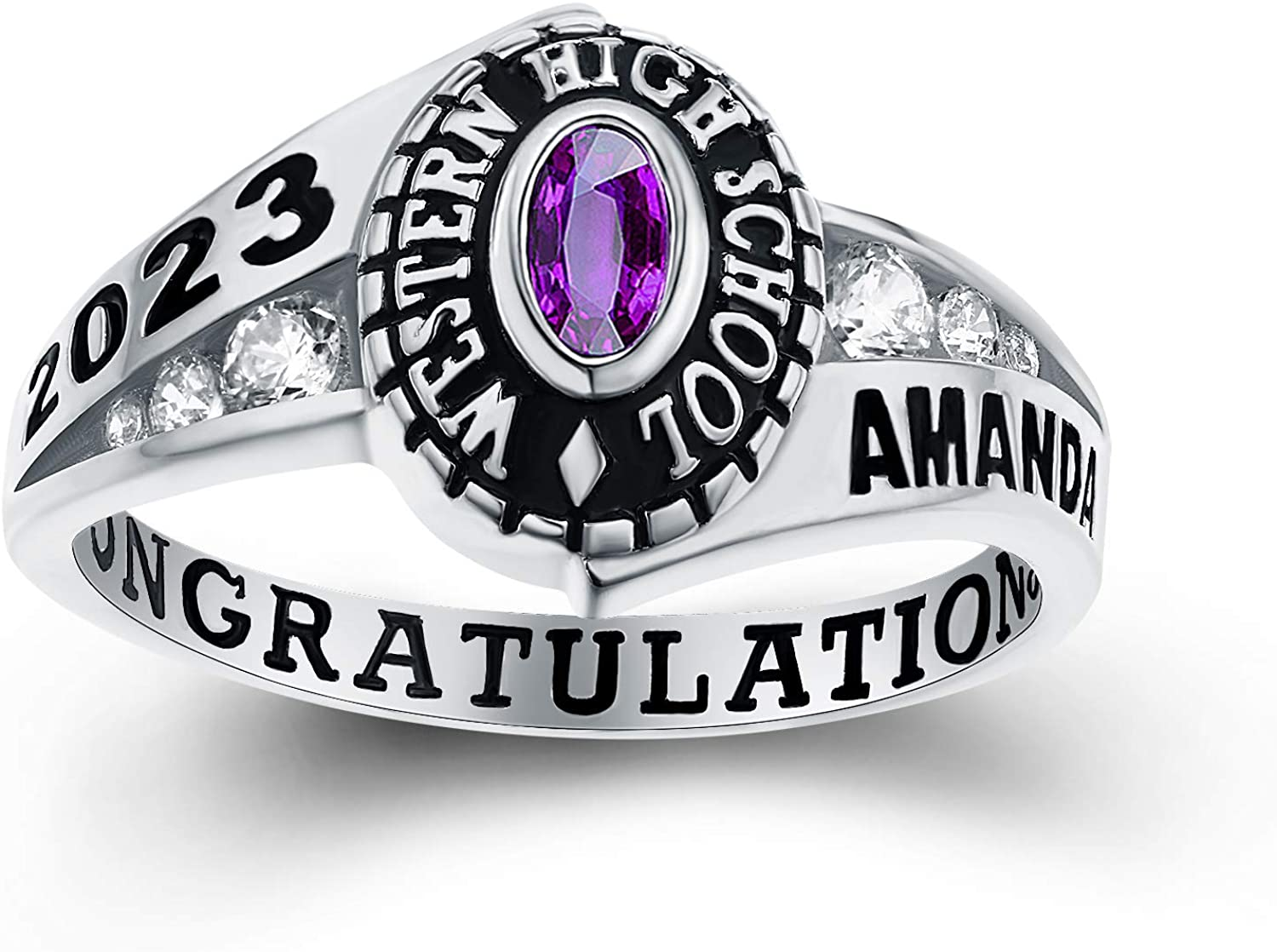 Customized Women's High School and Class Ring College Manufacturer direct delivery †2021 spring and summer new