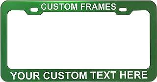 GoPlates Customized License Plate Frame Laser Engraved - Green