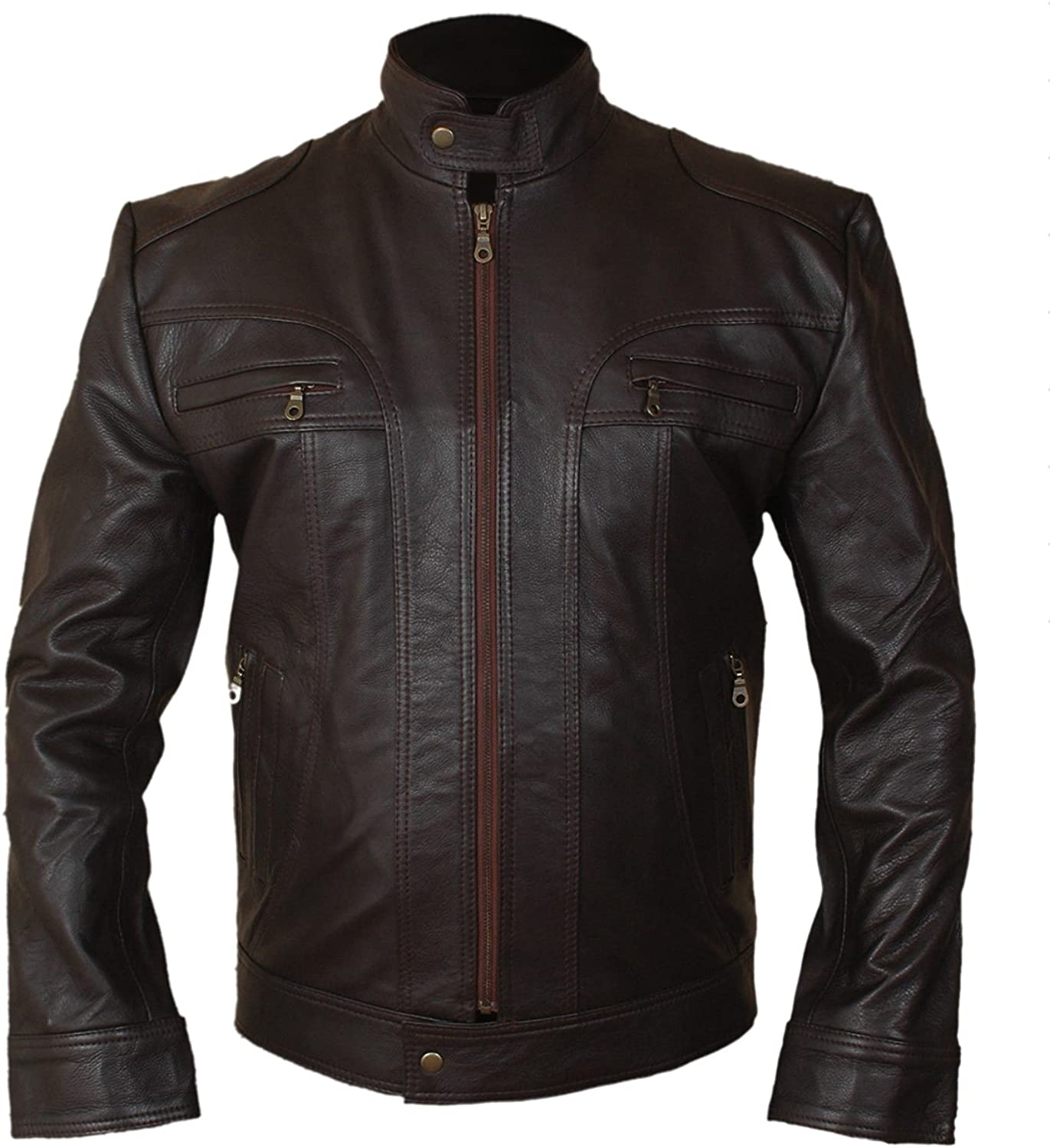 Western Fashions Men, Women Matthew McConaughey The Ghosts of Girlfriends Past Brown Leather Jacket