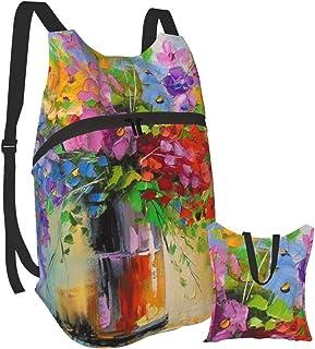Mochila portátil plegable para adultos, mochila para computadora de siete colores, antirobo, delgada, duradera, para portátiles