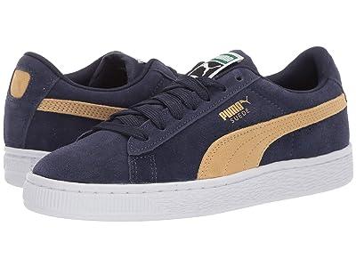 Puma Kids Suede Classic (Big Kid) (Peacoat/Taos Taupe) Boys Shoes