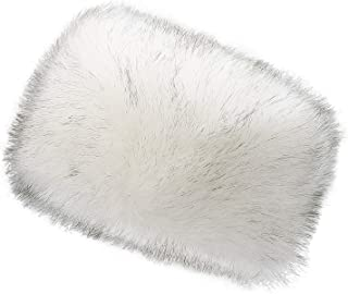 Winter Women Faux Fur Russian Cossack Style Hat Winter Wrap Hat,White Black