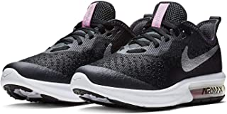 Official Brand Nike Air Max Sequent Trainers Juniors Girls Black/Silver Shoes Sneakers Footwear