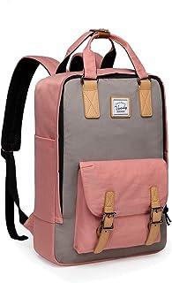Backpack for Teen Girls,VASCHY Vintage 15in Laptop Backpack Water-Resistant School Backpack Pink