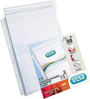 Exacompta 5502E Etui carton de 50 Pochettes perfor/ées A4 polypropyl/ène lisse ouverture haut//soufflet 2,5 cm