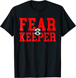 Fear The Goalie T Shirt Soccer Goalkeeper Keeper Boys Girls