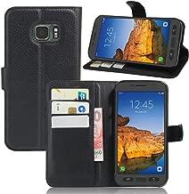 IVY S7 Active Wallet Case, Galaxy S7 Active PU Leather Case Wallet Phone Case [Litchi Grain] for Samsung S7 Active SM-G891 - Black