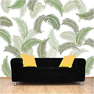 YMS Feather Reusable DIY Wall Stencils for Home Wall Decor (PVC, 16-inch X 24-inch)